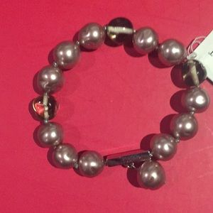 Napier pearl and beaded bracelet